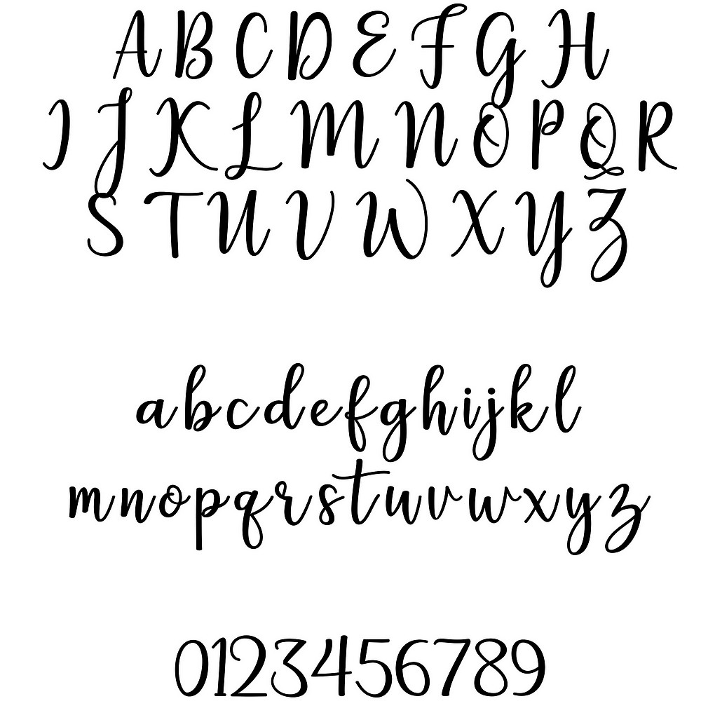 Font used for custom print on wedding puzzle guest book and puzzle box