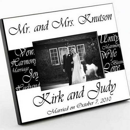 Black and White Mr. and Mrs. Wedding Frame