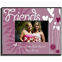 Personalized heart and flower designed frame for friends