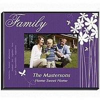 Personalized butterfly design frame for Family