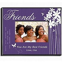 Personalized butterfly design frame for Friends