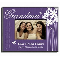 Personalized butterfly design frame for Grandma