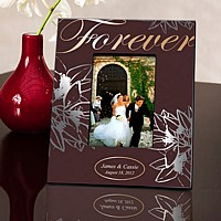 Personalized brown Forever picture frame