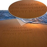 Sparkling sands print with suggested personalization