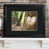 Tree of love personalized print with wood frame