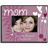 Personalized heart and flower designed frame for mom
