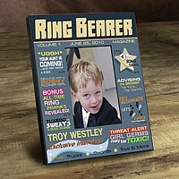 Ring Bearer magazine designed picture frame