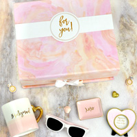Pink & Gold Will You Be My Bridesmaid Gift Box Kit