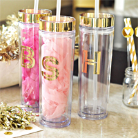 Personalized travel tumblers & water bottles for women