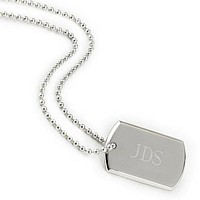 Personalized Nickel Plated Beveled Dog Tag