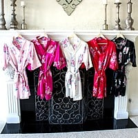 Personalized Floral Bridesmaids Robes