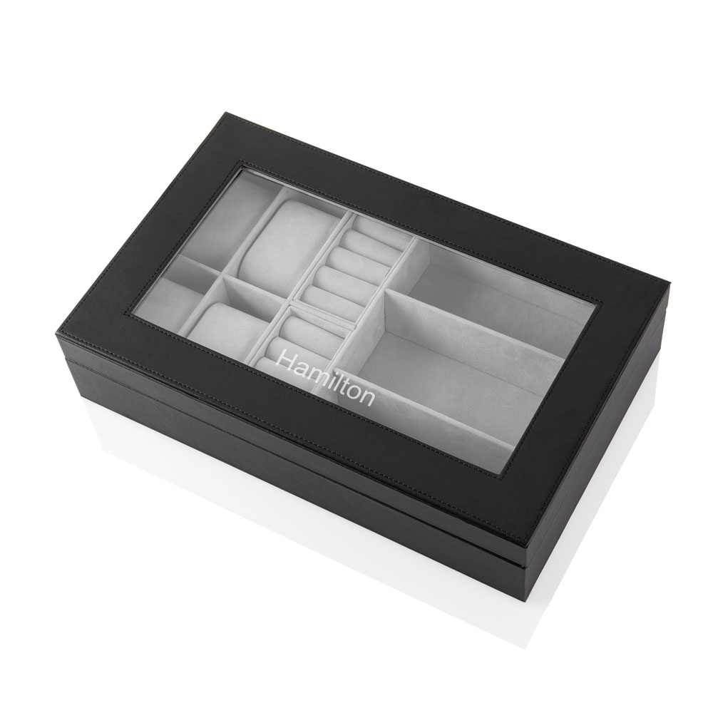 Slotted compartments for personalized valet box