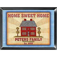 Home Sweet Home Personalized Welcome Sign