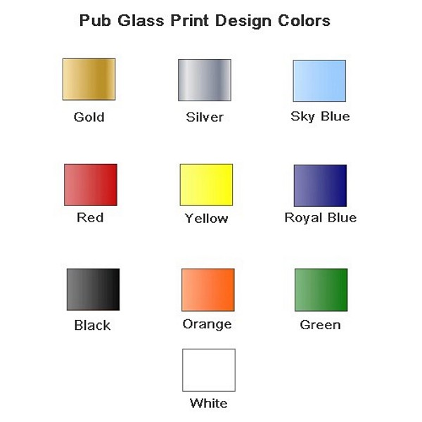 Pub glass print design colors