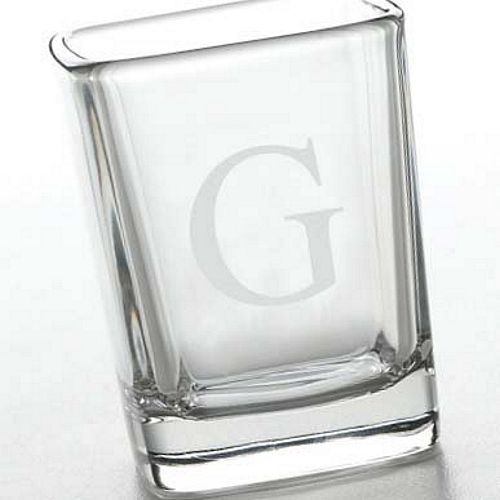 monogrammed square shot glass