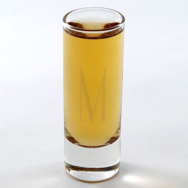 Shooter shot glass custom eteched with monogram