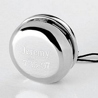 Personalized Silver Plated Yo Yo