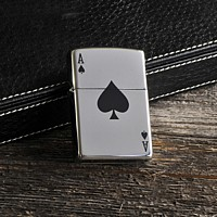 Engraved ace of spades zippo lighter
