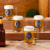 Personalized Military Emblem Beer Mugs