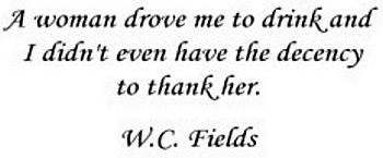 W.C. Fields famous beer quote