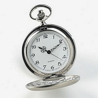 Open Stainless Steel Personalized Pocket Watch