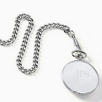 Closed Stainless Steel Personalized Pocket Watch