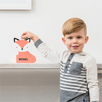 Personalized Clever Fox Piggy Bank