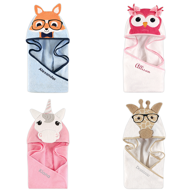 Personalized Animal Face Child's Hooded Towel