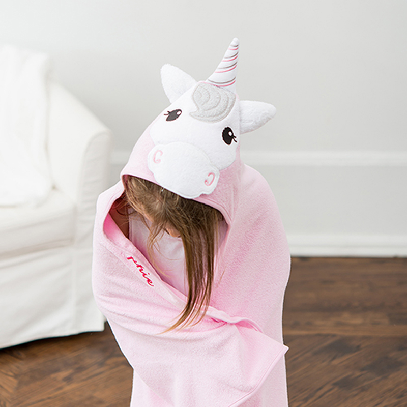 Unicorn Hood on Animal Face Child's Towel
