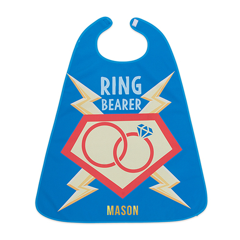 Personalized Ring Bearer Cape with name in Gold Thread Color