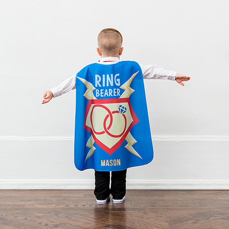 Personalized Ring Bearer Super Cape