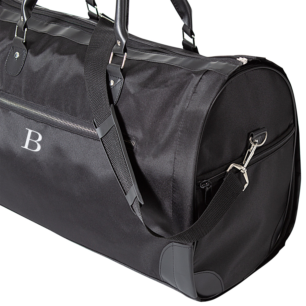 Black Microfiber Men's Convertible Carry On Garment Bag
