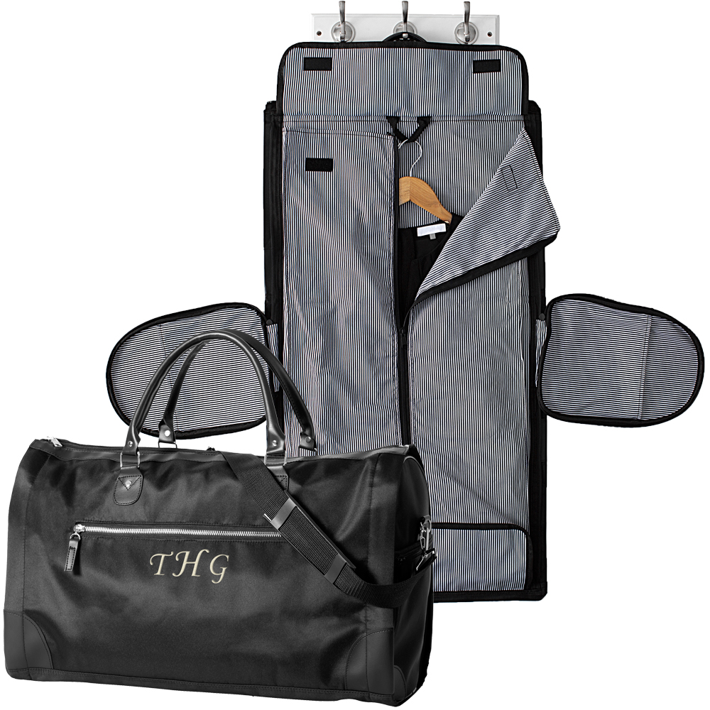 Black Microfiber Women's Convertible Carry On Garment Bag