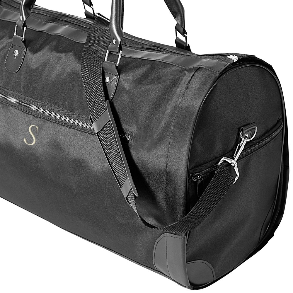Black Microfiber Women's Convertible Carry On Garment Bag side view