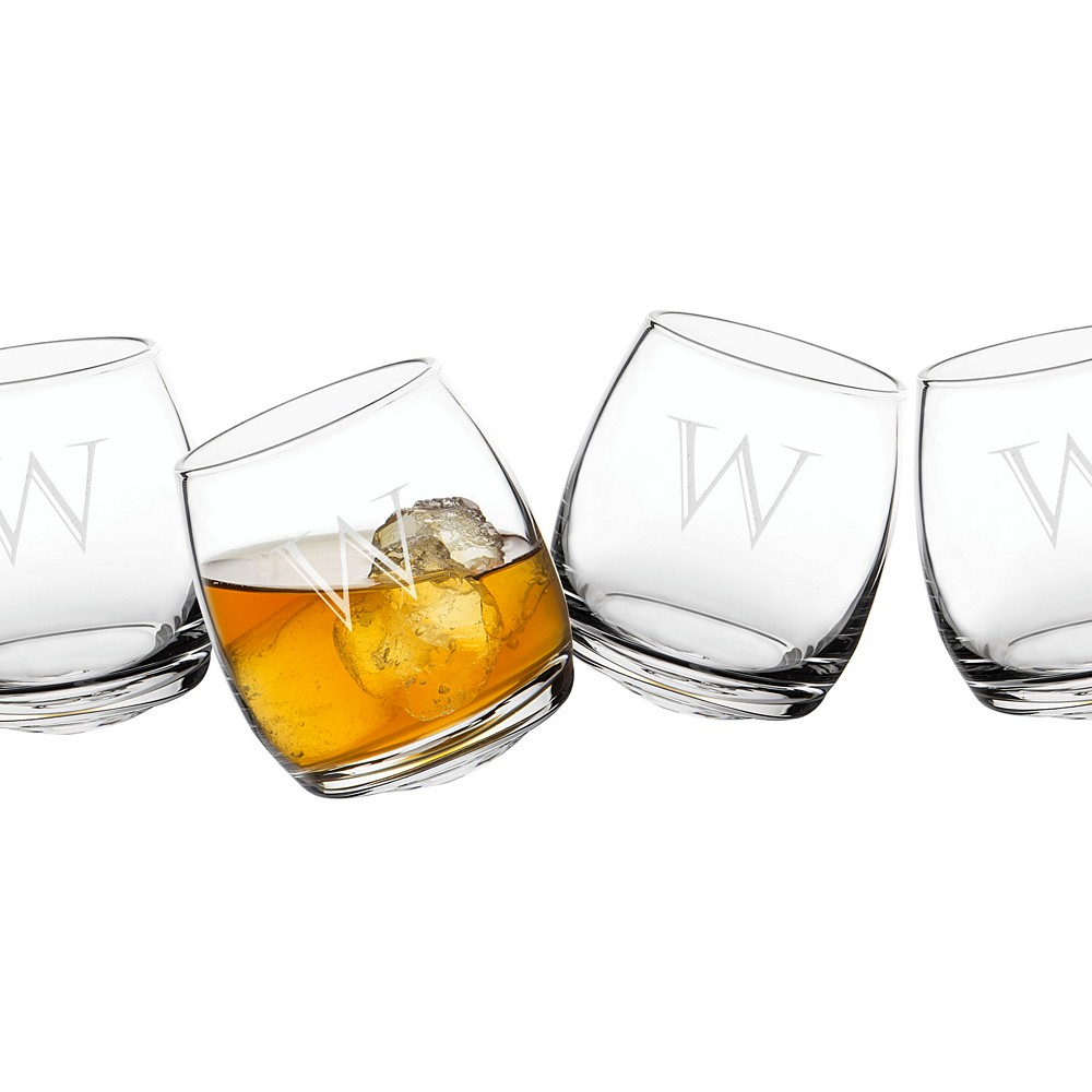 Personalized tipsy whiskey glasses set