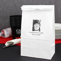 Personalized Graduation Paper Lunch Style Favor Bags