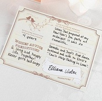 Wedding Reception Wish Cards Forever Wishes Signature Pkg Of 48