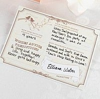 Forever wedding signature card - front side