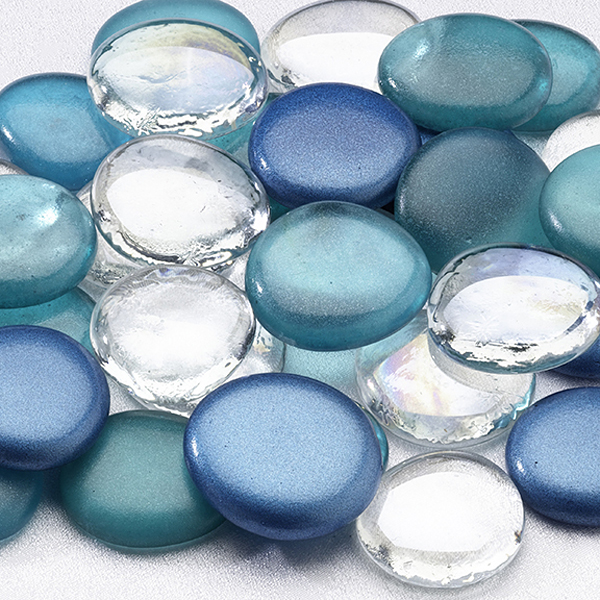 Colored Glass Signing Stones