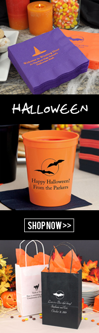 Personalized Halloween party and wedding decorations and favors