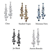 Cascading crystal bCascading crystal bubble earrings in assorted colorsubble earrings in assorted colors