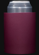 Burgundy foam can koozie color