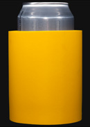 Yellow foam can koozie color