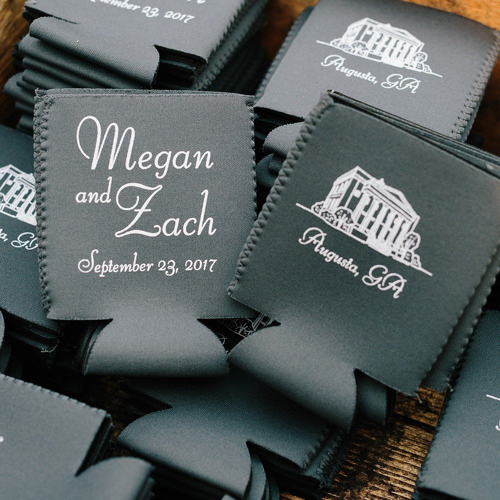 Personalized Premium Neoprene Wedding Can Coolers