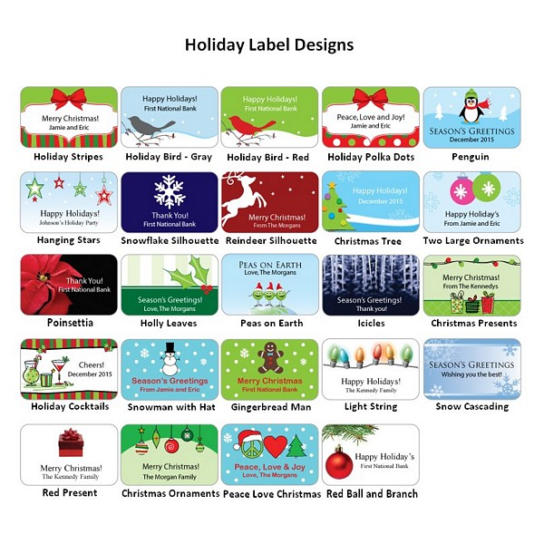 Holiday label design options