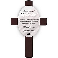Personalized God's Love Memorial Wall Cross