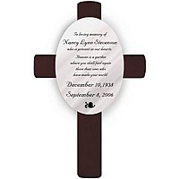 Personalized Heaven Poem Memorial Wall Cross