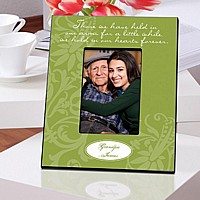 Green Personalized In Our Hearts Memorial Picture Frame