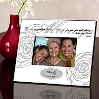 White Personalized Always Memorial Picture Frame