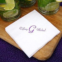 Personalized beverage and cocktail napkins